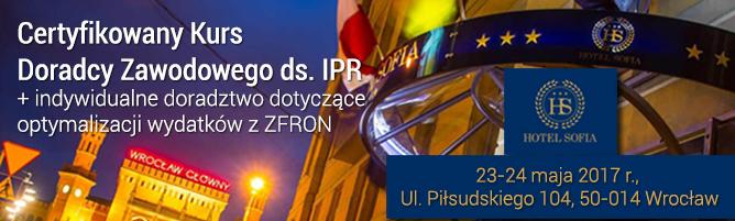 Kurs doradcy zawdowego ds IPR 23-24.05.2017 WROCŁAW