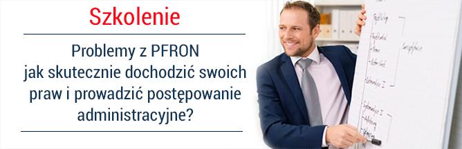 Zapraszamy na szkolenie Problemy z PFRON - jak skutecznie dochodzić swoich praw i prowadzić postępowanie administracyjne? Teoria i praktyka