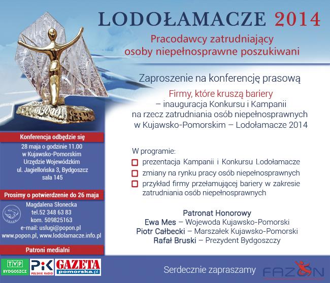 POPON 28 maja inauguracja Konkursu Lodołamacze 2014 w Kujawsko-Pomorskim