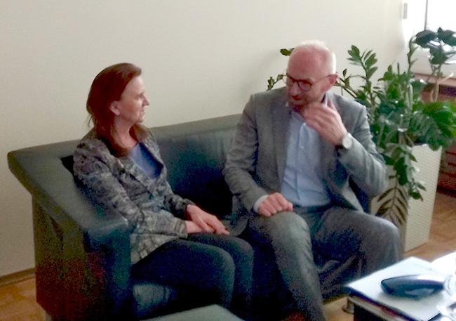 Spotkanie Zarządu POPON z Prezesem Zakładu Ubezpieczeń Społecznych Panią Profesor Gertrudą Uścińską