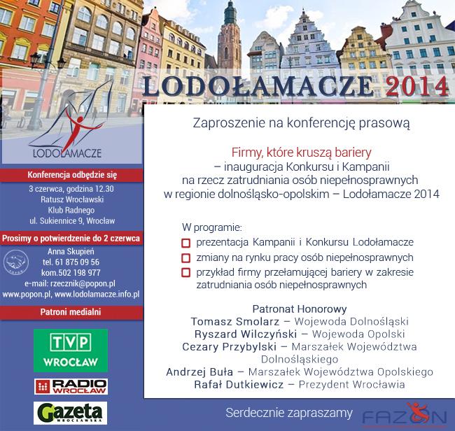 POPON 3 czerwca inauguracja Konkursu Lodołamacze 2014 w dolnośląsko-opolskim